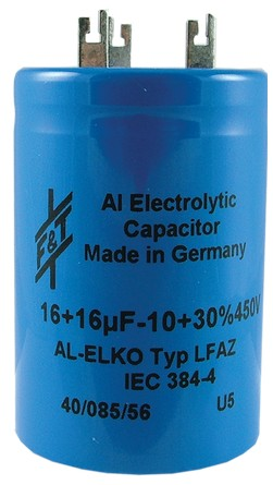 Germany multisection screw mount electrolytic  50//50//50µF 550V//600V FTCap
